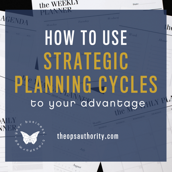 How to use Strategic Planning Cycles