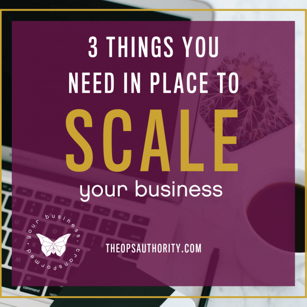 3 Things you need in place to scale your business