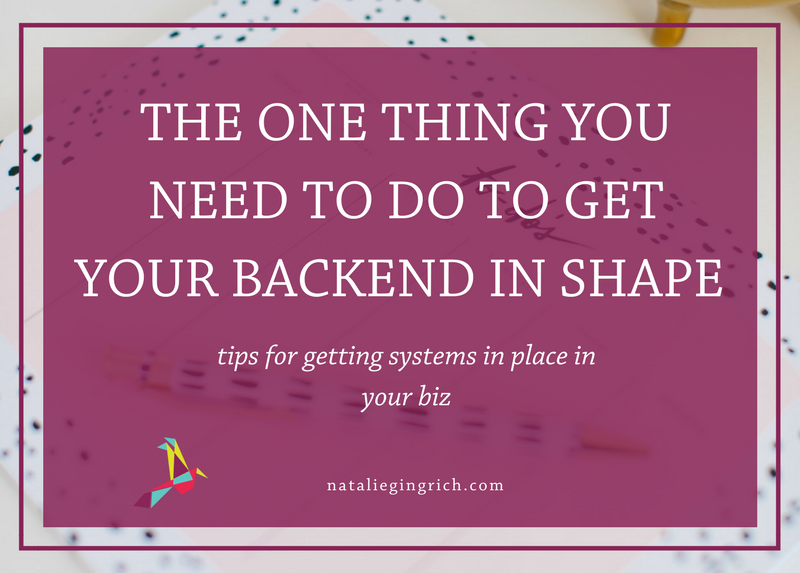 One Thing You Need to do to Get your backend in shape - get systems in place