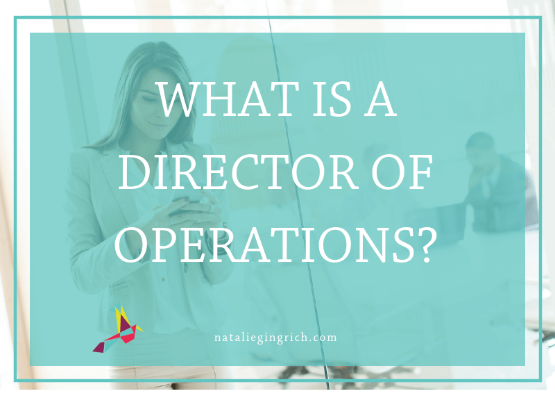 What is a director of operations