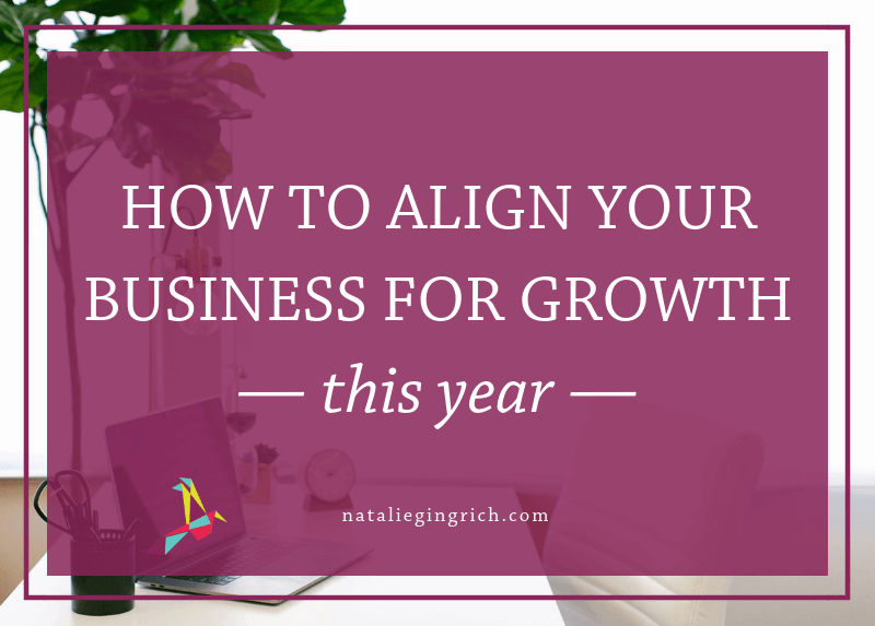 """Graphic that says """"How to align your business for growth this year"""""""
