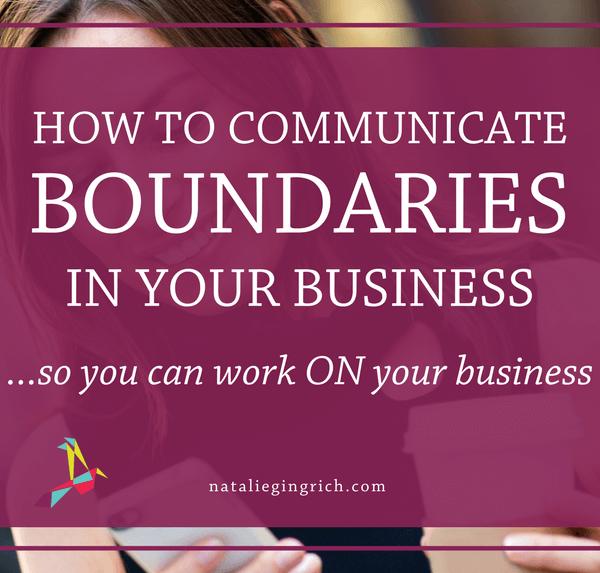 communicating boundaries in business