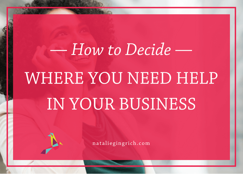 How to decide where you need help in your business