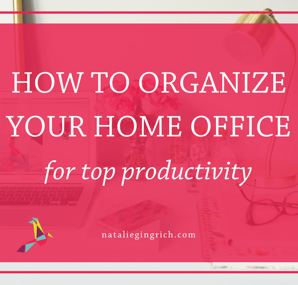 organize home office productivity