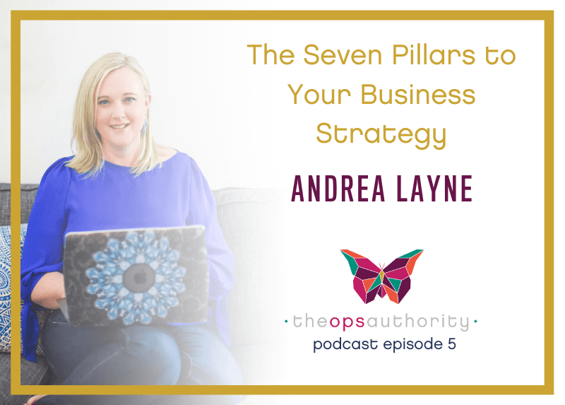 The Seven Pillars to Your Business Strategy with Andrea Layne