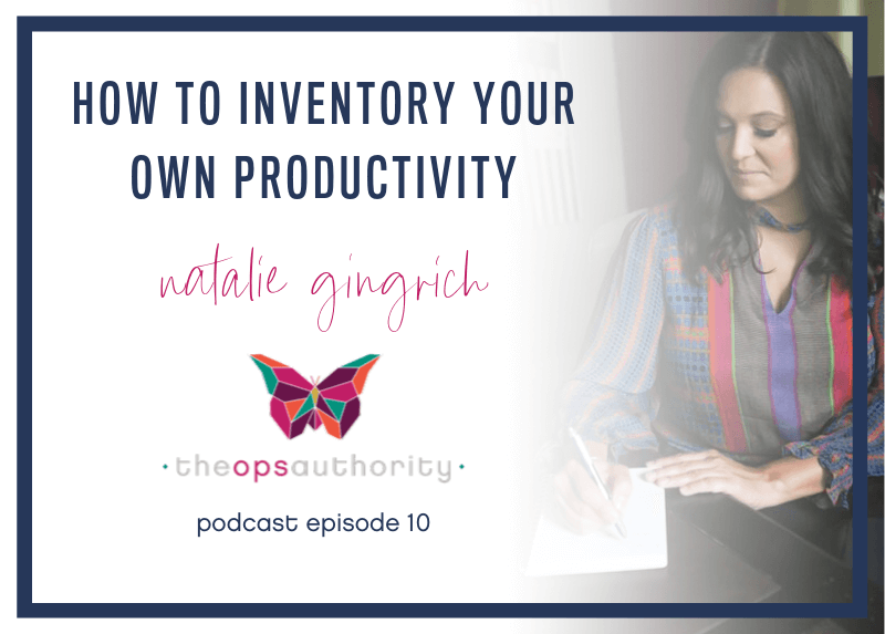 How to Inventory Your Own Productivity