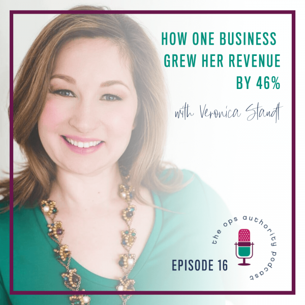How One Business Grew Her Revenue by 46% with Veronica StaudtTOA 016 How one business grew her revenue square