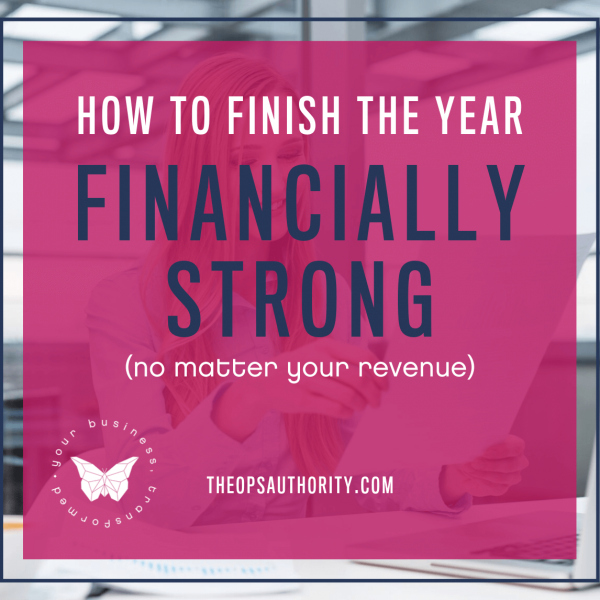 How to Finish the Year Financially Strong