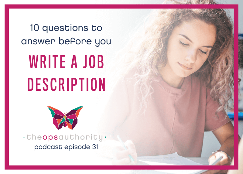 TOA 031 10 questions to ask before you write a job description