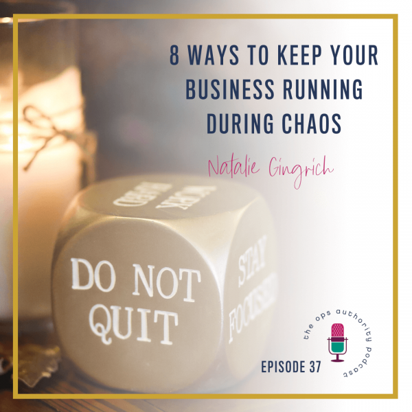 Eight Ways to Keep Your Business Running During Chaos