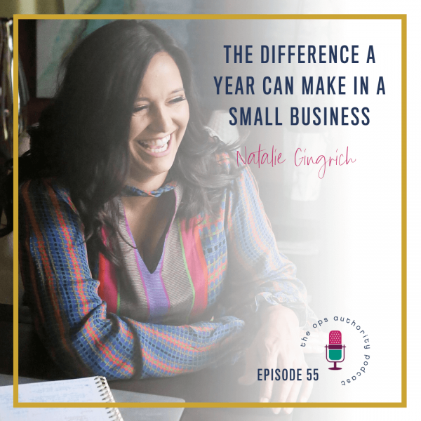The difference a year can make in a small business