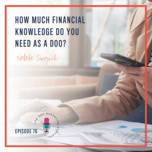 How Much Financial Knowledge Do You Need as a DOO?