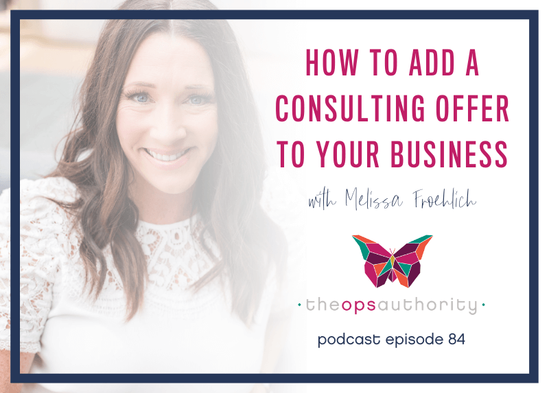 Photo of Melissa Froehlich - How to Add a Consulting Offer to your Business