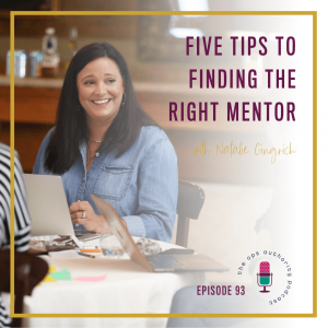 Five Tips to Finding the Right Mentor